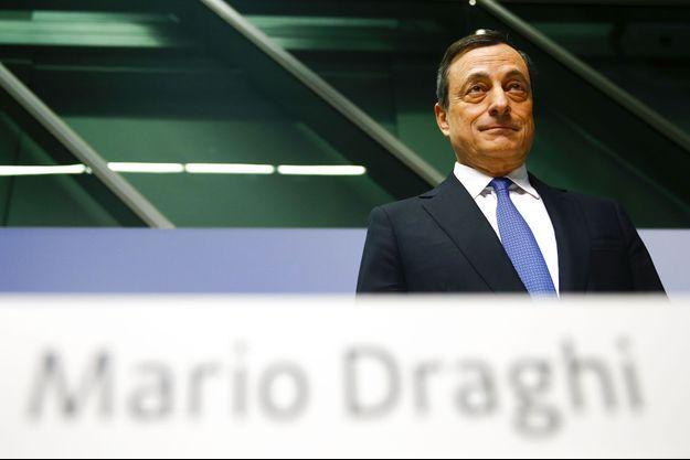 Mario Draghi jeudi à la conférence de presse organisée au siège de la Banque centrale européenne à Francfort.