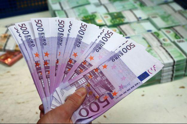 Le billet de 500 euros ne sera plus émis à partir de la fin 2018.