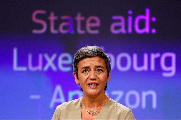 Margrethe Vestager à Bruxelles, mercredi.