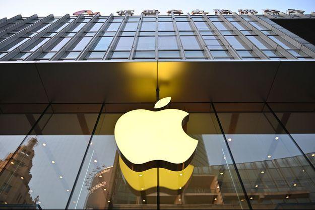 Le logo de la compagnie Apple.