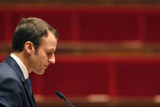 Emmanuel Macron le 26 janvier, lors des débats sur son projet de loi.