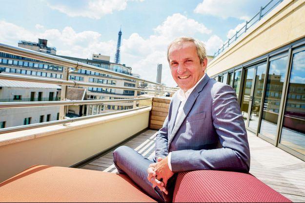 Pascal Demurger dans les bureaux parisiens de la Maif, le 9 juin.