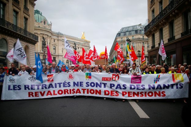 Manifestation de retraités en septembre 2017 à Paris.
