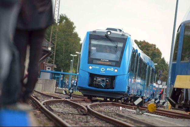 Un train à hydrogène Alstom en Allemagne en septembre 2018.