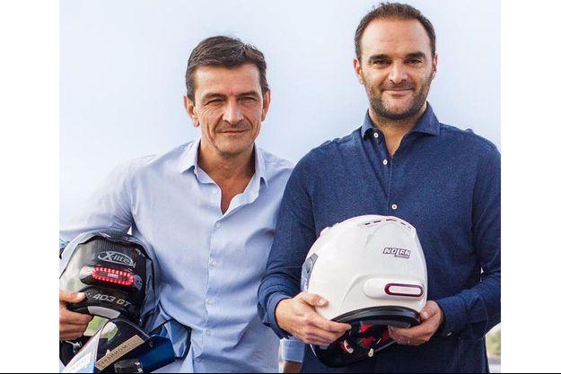 Frédéric Metge (g) et Romain Afflelou, DG et Président de Cosmo Connected.
