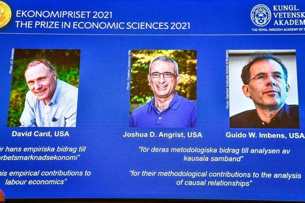 Le prix Nobel d'économie a été décerné à David Card, Joshua Angrist et Guido Imbens.
