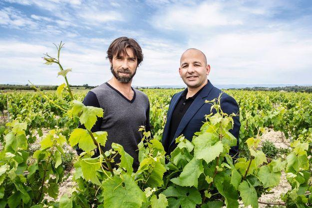 Dominique Laporte, meilleur sommelier de France, et Fathi Benni, ingénieur agronome.
