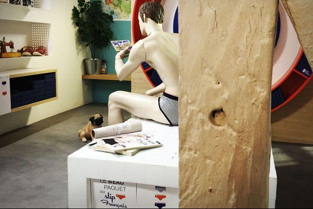 Léo, le mannequin du Slip Français, star de leur campagne pour les Etats-Unis.