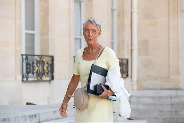 Elisabeth Borne à l'Elysée, lundi.
