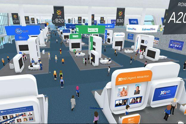 Illustration du salon virtuel Virtual Nautic.