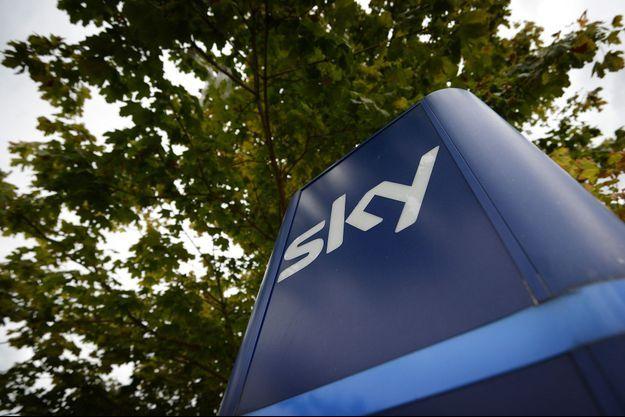 Le logo de la société Sky.