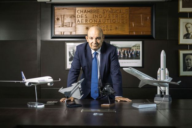 Eric Trappier, P-DG de Dassault Aviation, dans son bureau, le 9 octobre.