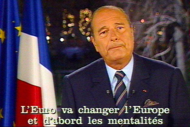 Une image tirée de l'allocution de Jacques Chirac le 31 décembre 1998.