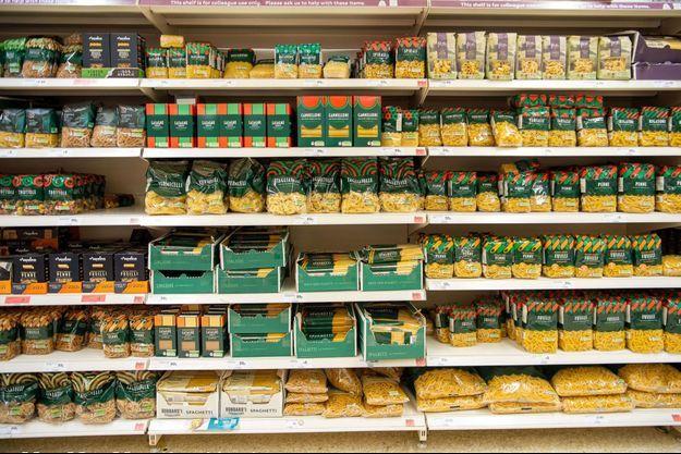 Un rayon de pâtes en Angleterre (image d'illustration).