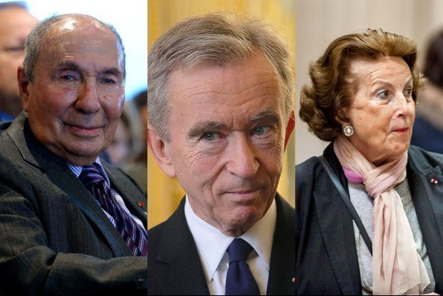 Serge Dassault, Bernard Arnault et Liliane Bettencourt.