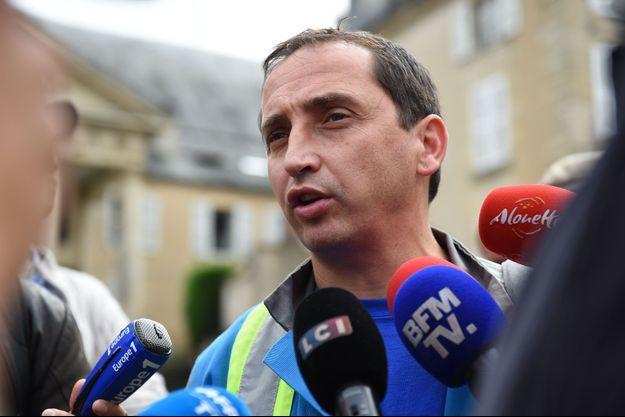 Le représentant CGT et salarié de GM&S Vincent Labrousse lundi à Poitiers.