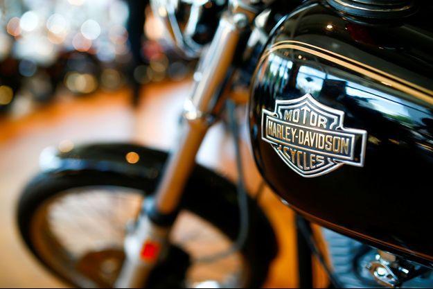 Une moto Harley-Davidson dans un concessionnaire à Londres, la semaine dernière.