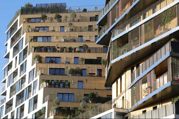 Un immeuble du nouveau quartier Masséna, à Paris.