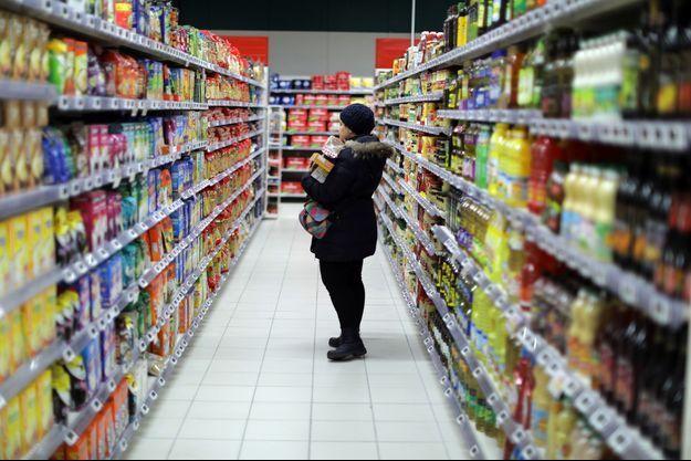 Dans un supermarché à Nice, en janvier 2017.