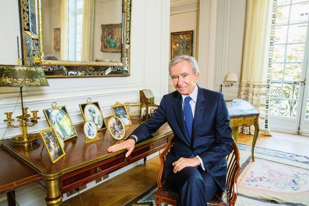 Le P-DG de LVMH, Bernard Arnault.