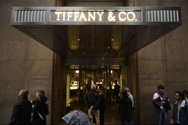 Boutique Tiffany sur la Cinquième Avenue à New York.