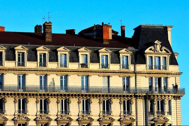 Un immeuble à Lyon, qui vient d'instaurer l'encadrement des loyers.