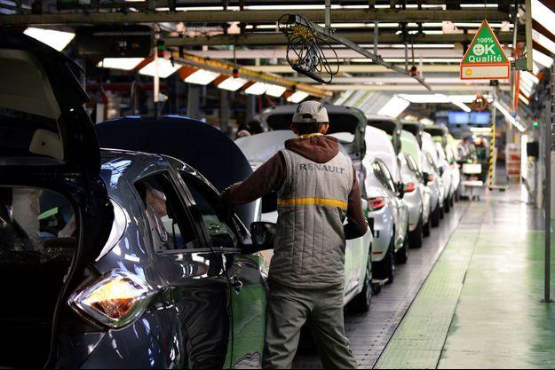 A l'usine Renault de Flins, en février dernier.