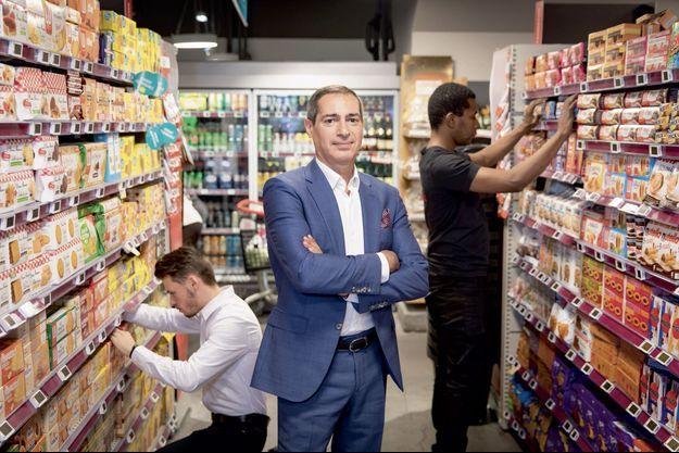Jean-Paul Mochet, patron de Monoprix et Franprix, au Monoprix des Halles, à Paris.