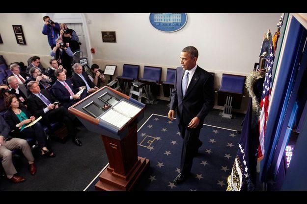 Barack Obama mardi, après l'annonce du vote de la chambre des représentants.
