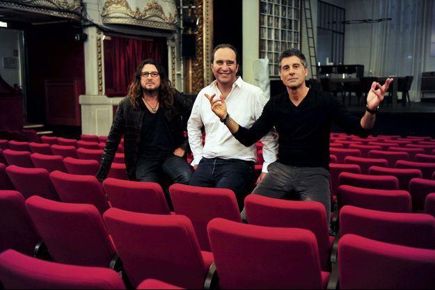 Jacques-Antoine Granjon (Venteprivee.com), Xavier Niel (Free) et Marc Simoncini (Meetic, Jaïna, Sensee).
