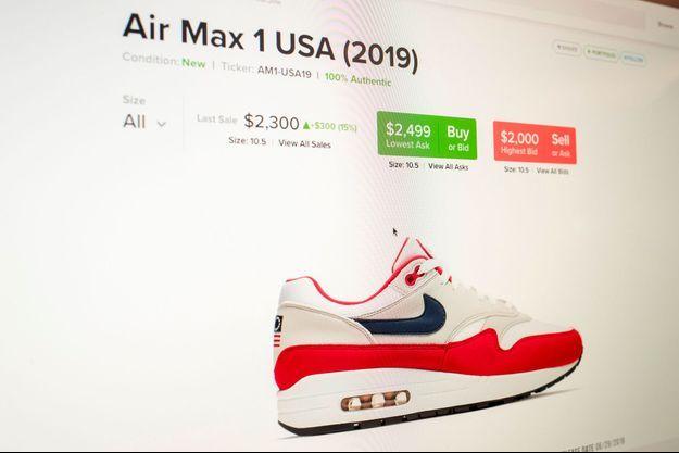 Les prix de la chaussure de Nike ont explosé après la polémique et l'annonce de son retrait.