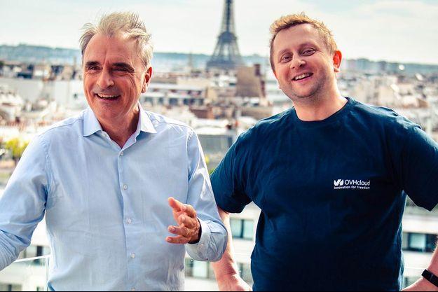 Michel Paulin, 61 ans, et Octave Klaba, 46 ans, 32e fortune de France.