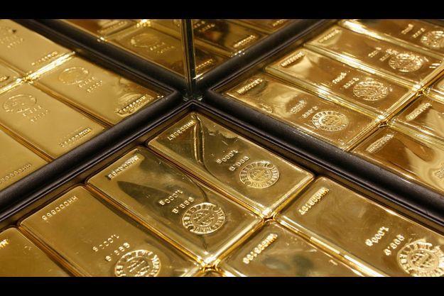 Des lingots d'or à Tokyo.