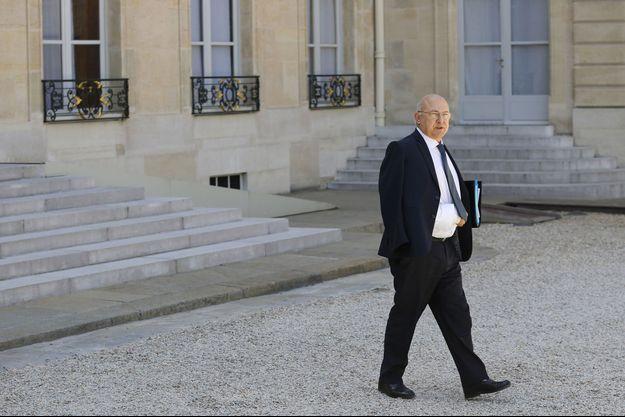 Michel Sapin à l'Elysée, le 31 juillet.