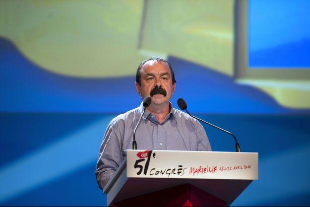 Philippe Martinez lundi à Marseille, lors de l'ouverture du congrès de la CGT.