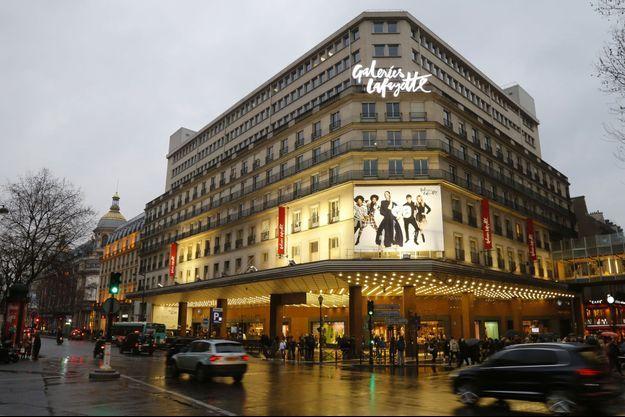 Les Galeries Lafayette Haussmann à Paris, en mars 2016.