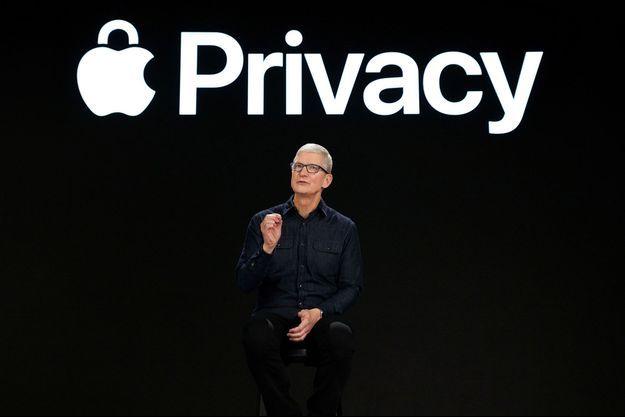 Le P-DG d'Apple, Tim Cook, lors de la conférence mondiale des développeurs organisée par l'entreprise, le 7 juin.