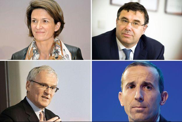 De g. à dr. : Isabelle Kocher (GDF Suez), Patrick Pouyanné (Total), Jean-Bernard Lévy (EDF), et Philippe Knoche (président du directoire par intérim d'Areva), tous issus du corps des Mines.
