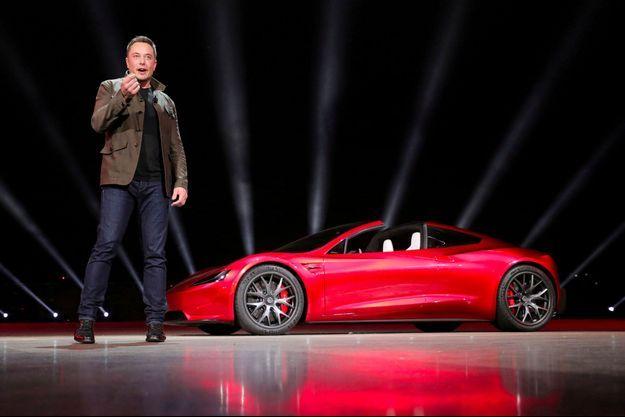 Elon Musk lors de la présentation de la Tesla Roadster 2 en novembre dernier.