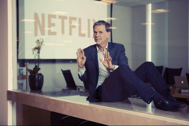Reed Hastings dans le QG de Netflix à Los Gatos en Californie.