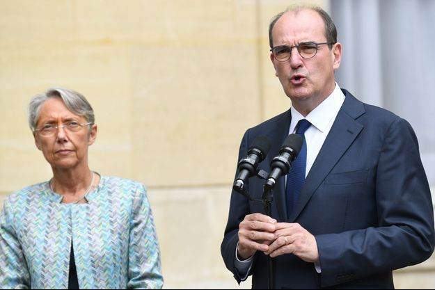 La ministre du Travail Elisabeth Borne et le Premier ministre Jean Castex à Matignon, vendredi dernier.