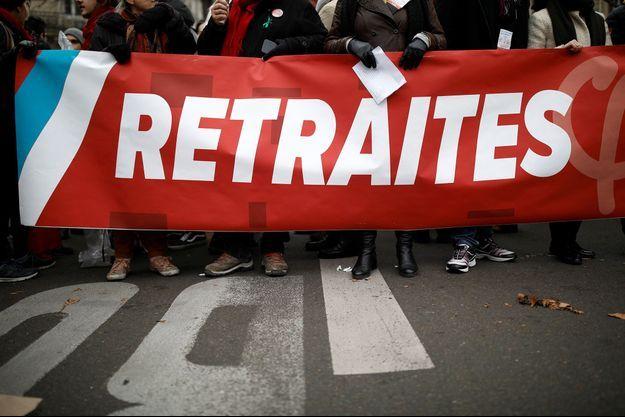 Lors de la manifestation contre la réforme des retraites à Paris, le 5 décembre.