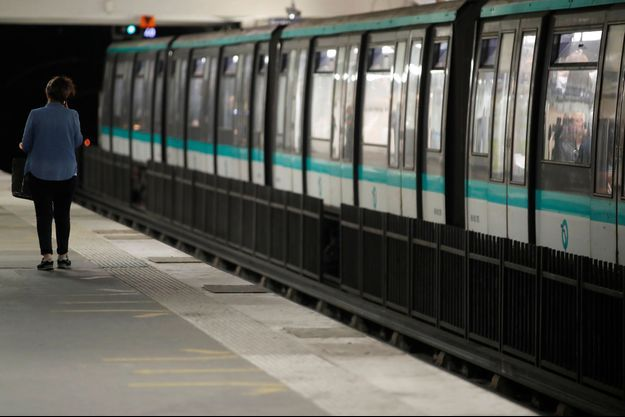 Dans le métro de Paris, le 13 septembre, lors d'une grève massive de la RATP.