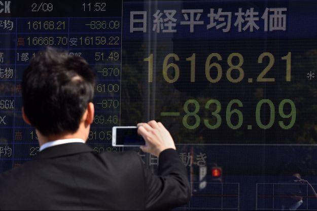 Indice Nikkei en baisse à Tokyo.