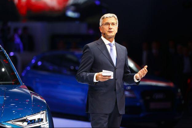 Rupert Stadler en septembre 2015, au salon de l'automobile de Francfort.