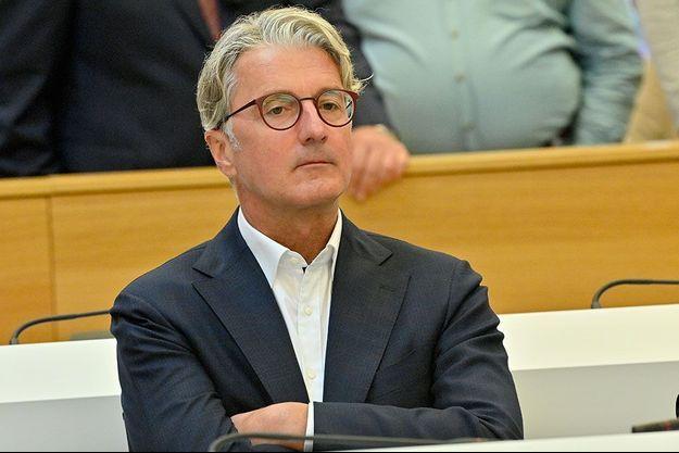 Rupert Stadler, l'ancien patron d'Audi, devant un tribunal de Munich, mardi.