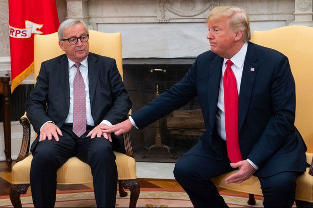 Jean-Claude Juncker et Donald Trump, mercredi à la Maison Blanche.