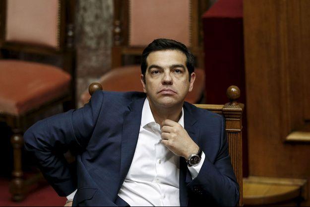 Alexis Tsipras au Parlement grec, le 5 juin.