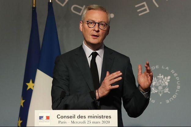 Bruno Le Maire à l'issue d'un conseil des ministres, le 25 mars.