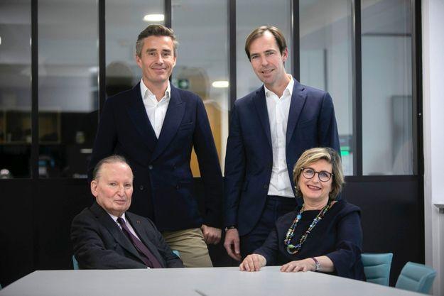 Raymond Soubie, Nicolas Escoulan, Julien Vaulpré et Myriam Lévy, le 3 mai.
